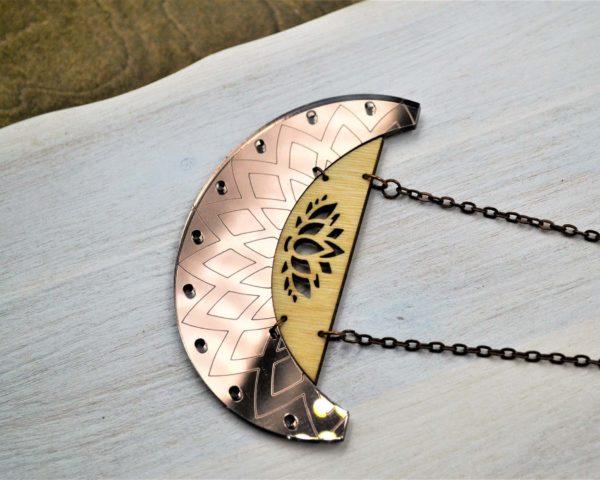 akrilno lesena ogrlica